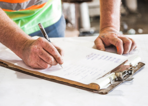 construction worker checklist